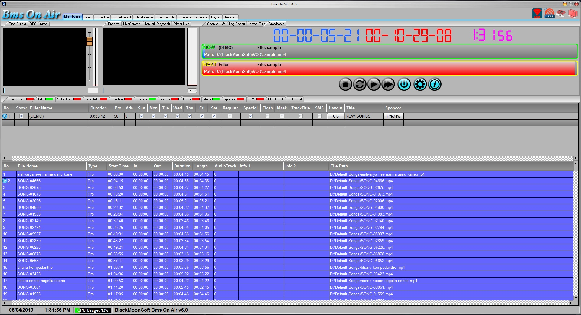 Playout Software - Cable TV Software, Decklink Playout